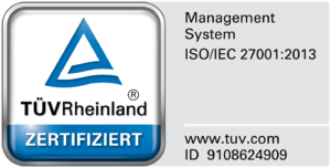 Certificate for ISO 27001